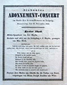 Gewandhaus Debut Program 1