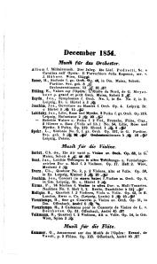 Hofmeister Musikalisch-literarischer Monatsbericht 1854