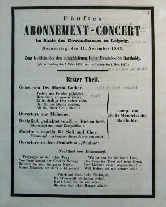 Mendelssohn Concert Program 1
