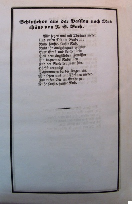 Mendelssohn Program 2