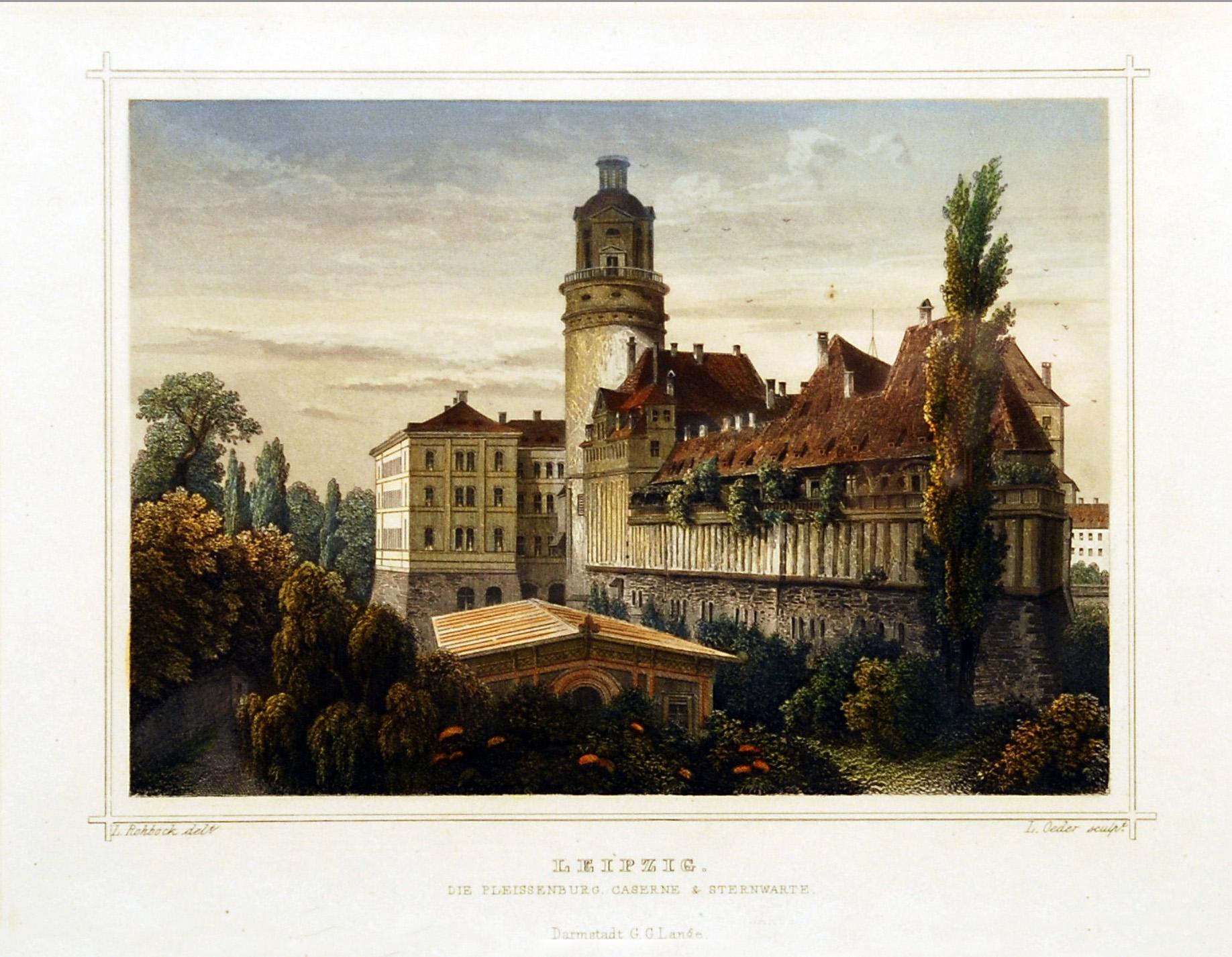 Pleißenburg_um_1850