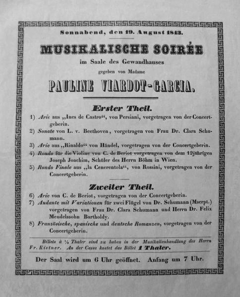 Viardot Program 1843