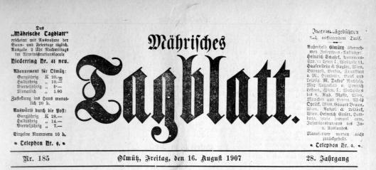 Mährisches Tageblatt Obituary 1
