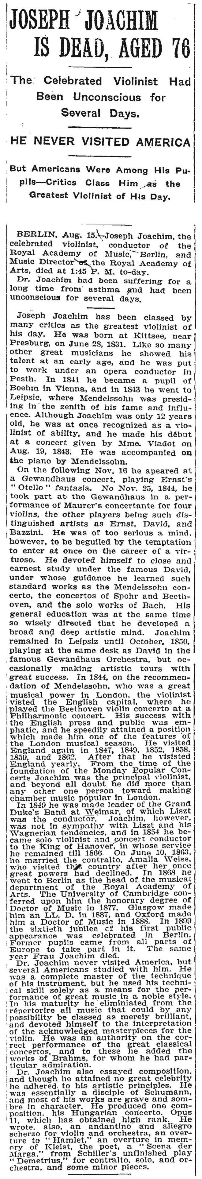 NY Times Obituary