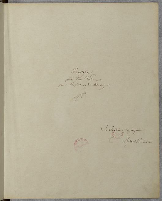 Schumann Fantasie Title Pg