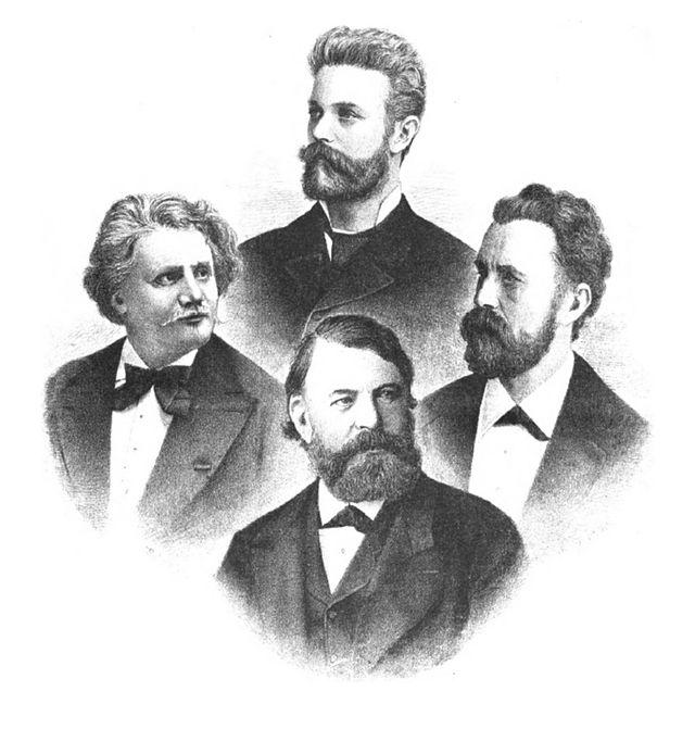 Joachim-Quartett_1884 Musikalisches Wochenblatt