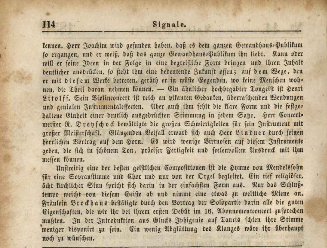 3 Hamlet Review Signale 23 March 1854 Gewandhaus copy